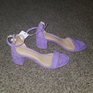 0b666e62f02e a new day Shoes - A New Day Lavender Block Heel Sandals